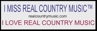 Real Country Music Bumper Sticker